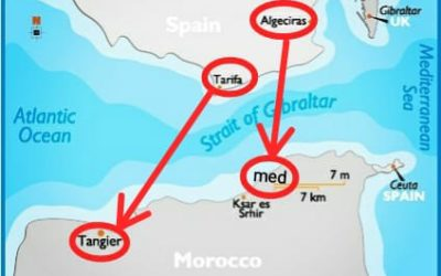 Spain Morocco ferry or flight.