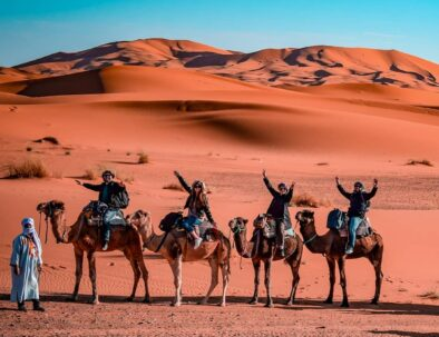 Camel trekking with our desert and city tours from Fes
