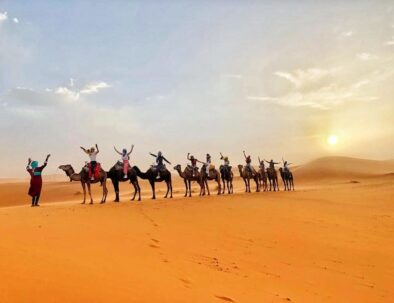 camel trekking is the highlight of our 3 days tour from Fes to Merzouga desert