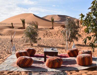camping at Merzouga desert
